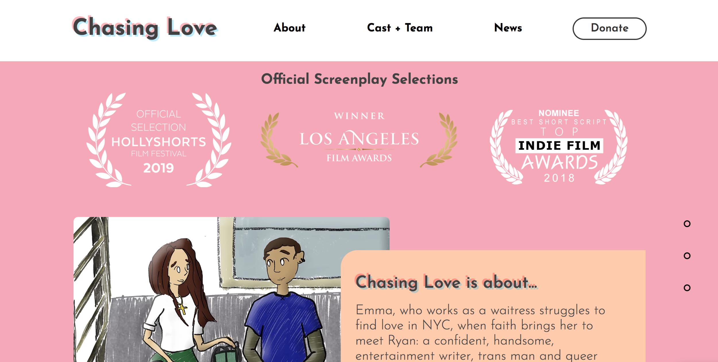 chasing love website