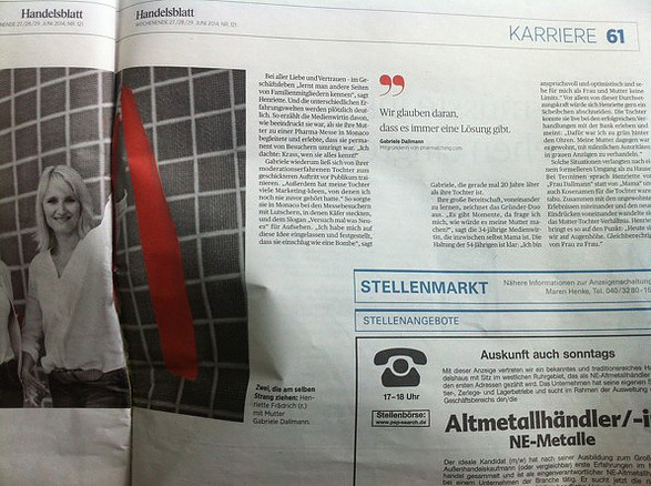 Pharmatching.com Handelsblatt