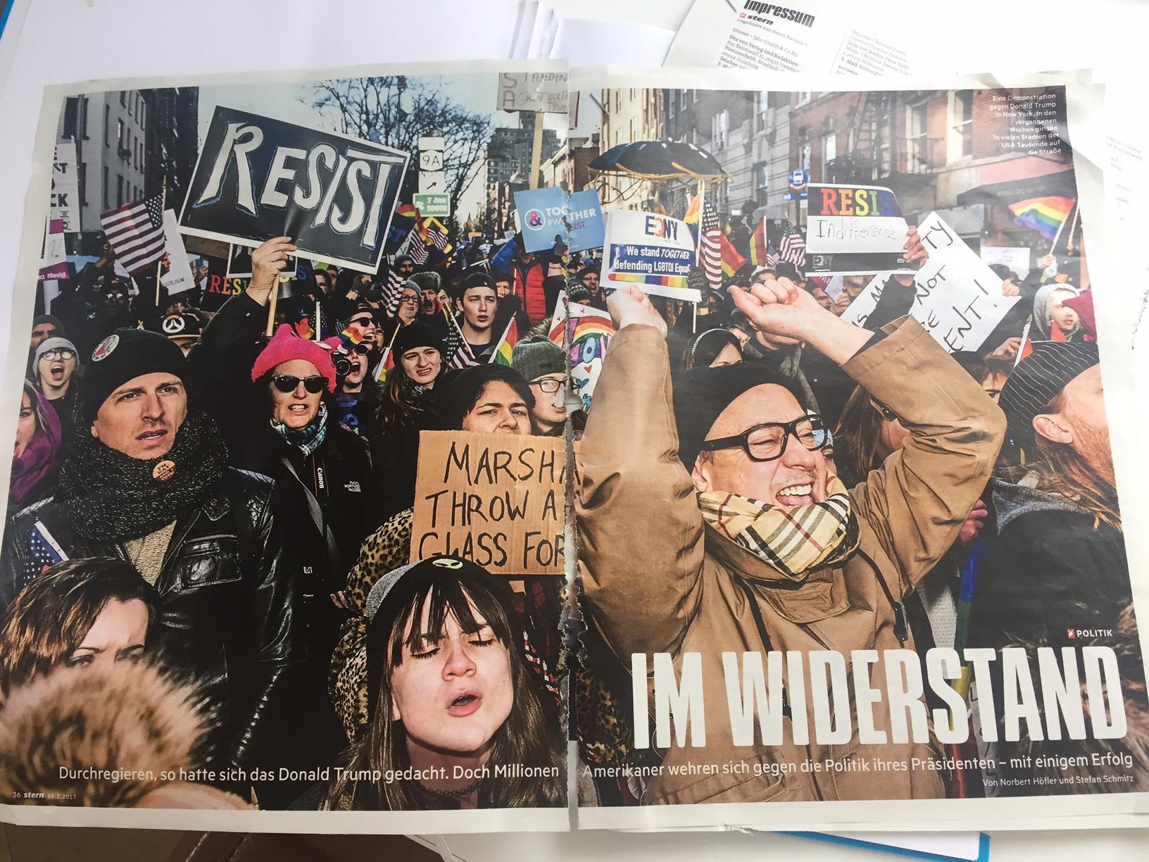 stern Artikel vom 16.02.2017 über den Widerstand in den USA gegen Präsident Trump