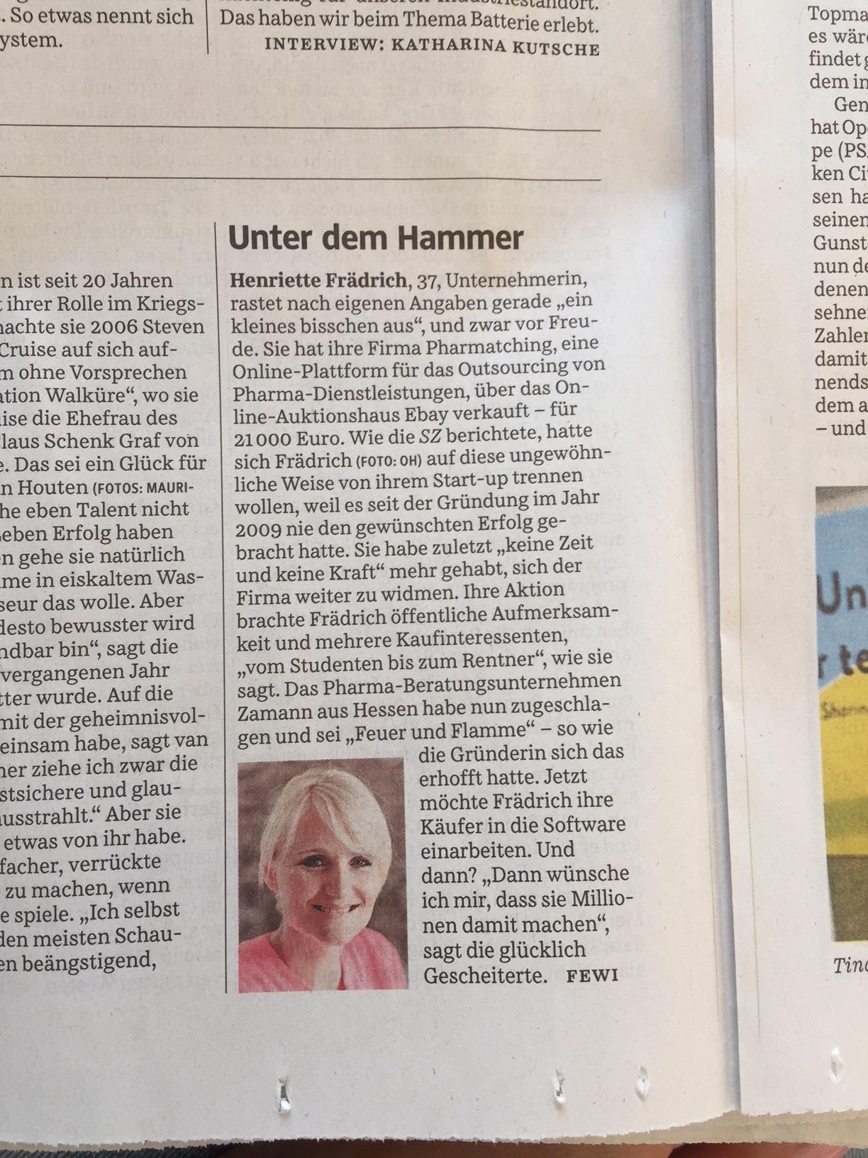 Henriette Frädrich Süddeutsche