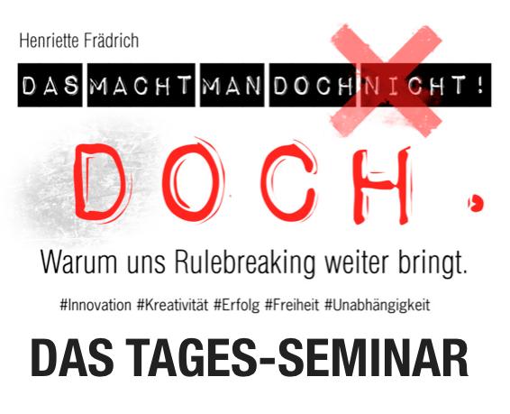 Das öffentliche Tages-Seminar von und mit Henriette Frädrich // 28.04.2018,Köln // Infos & Platz sichern  ➡    HIER