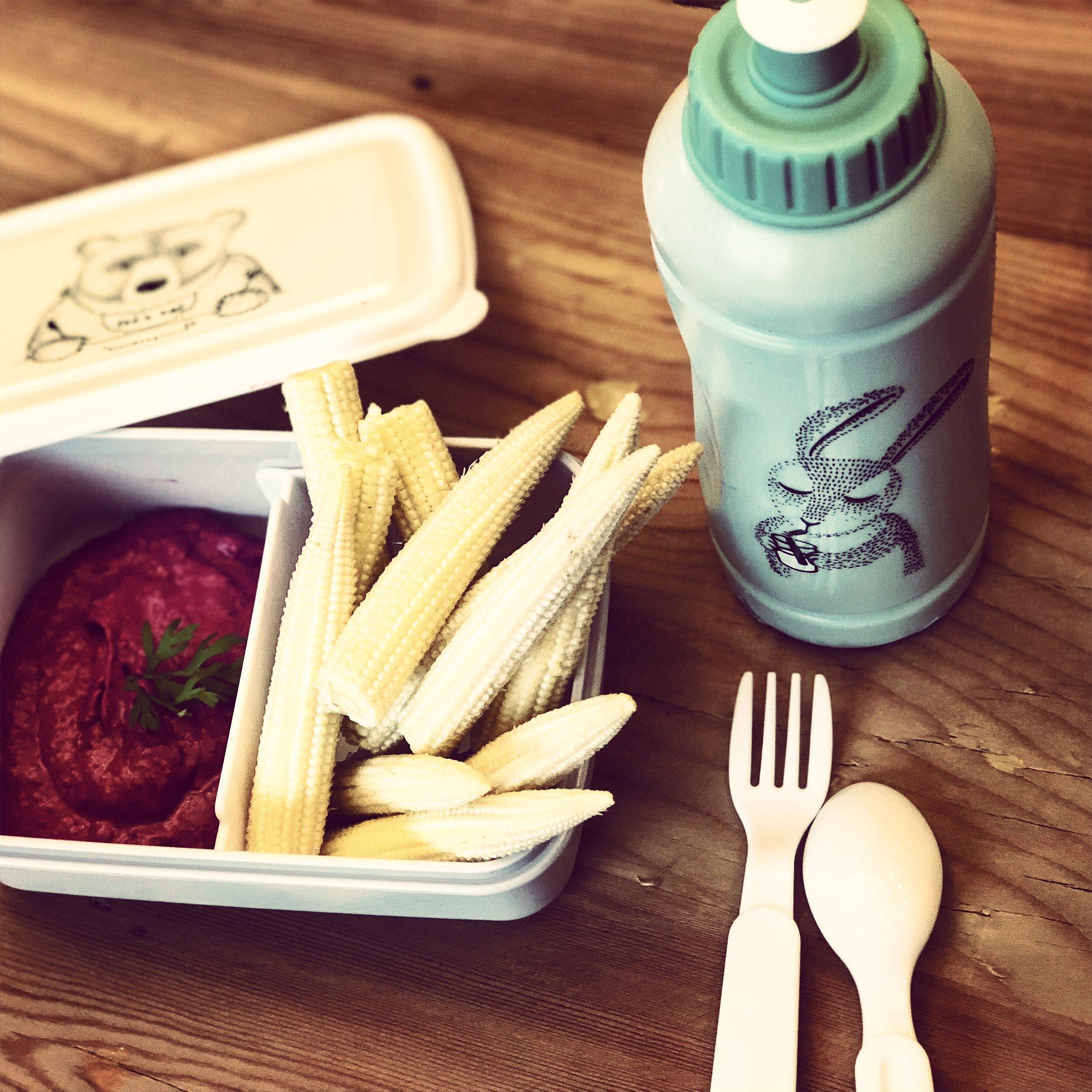 podéis usar las verduras que más les gusten a vuestros hijos, las mini mazorcas son una buena opción, a casi todos los niños les gusta el maíz.