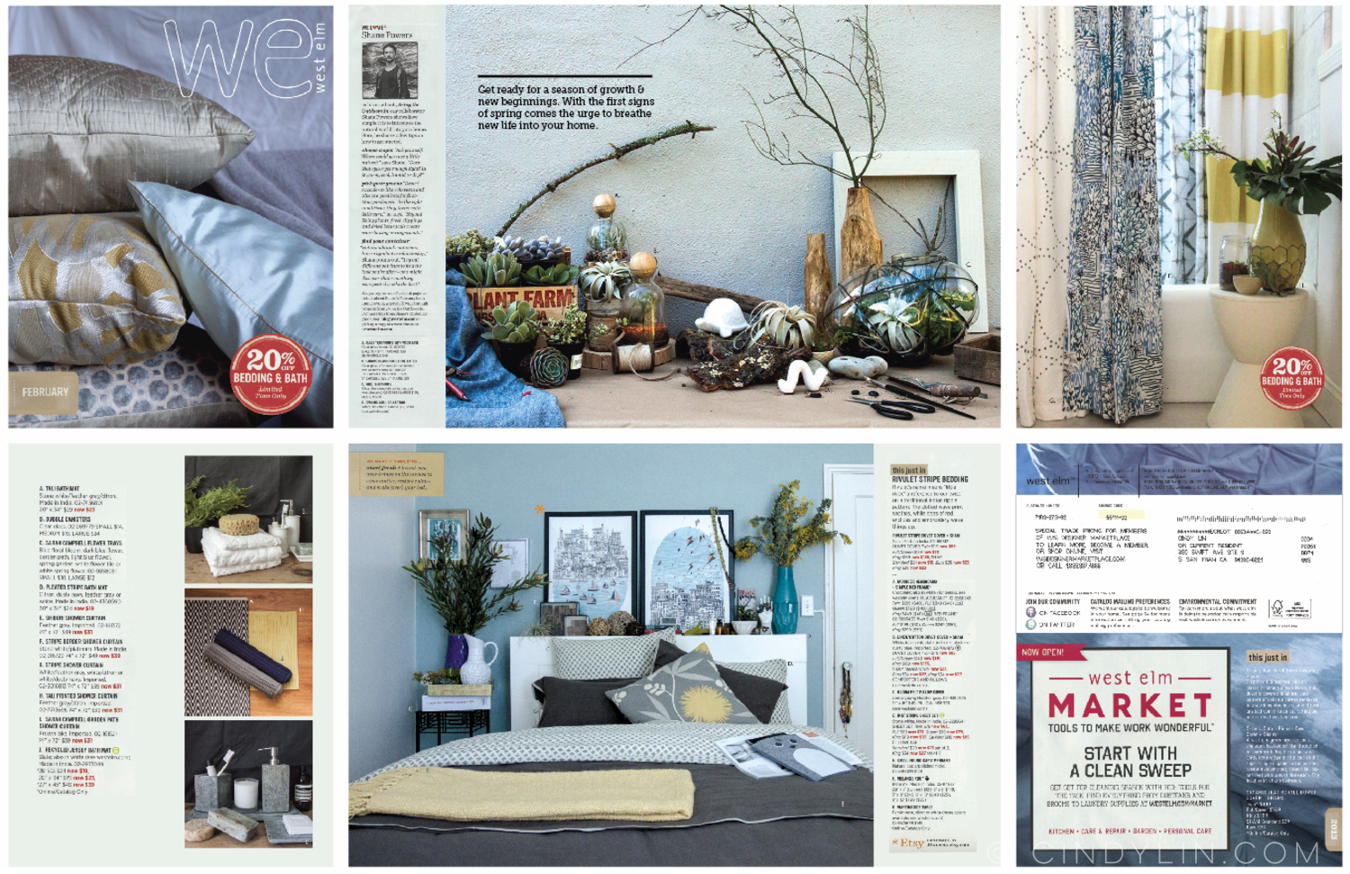 West Elm inspired mock catalog