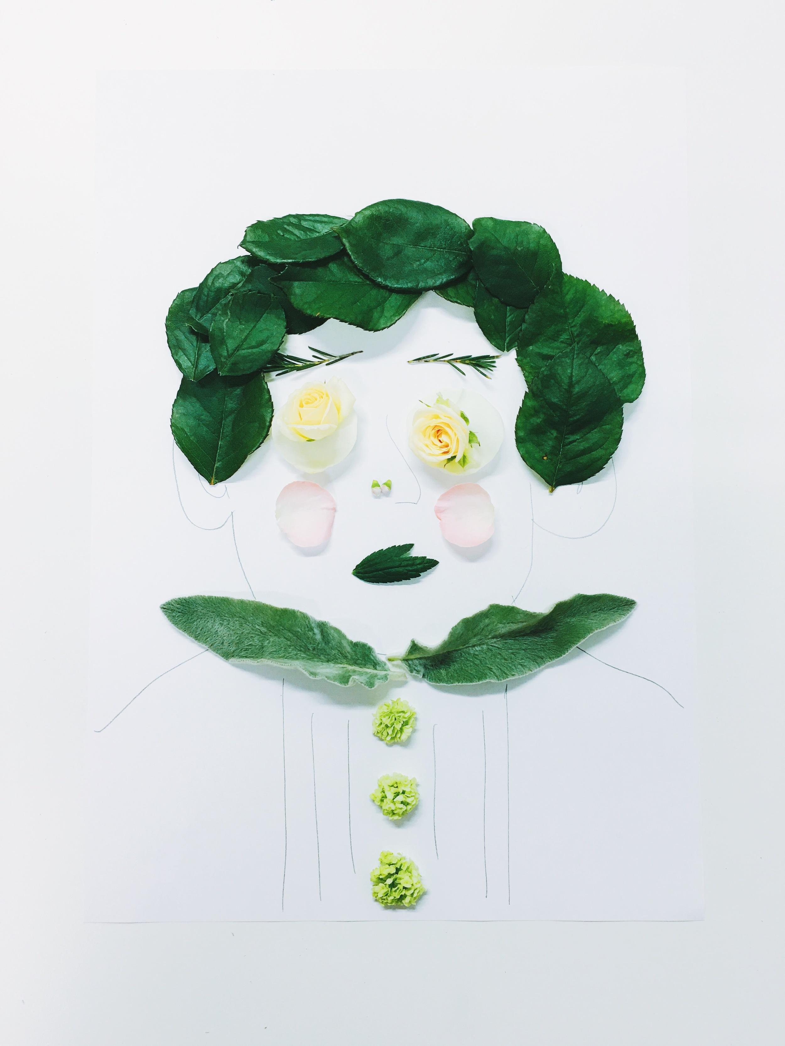 Cindy Lin Flower Drawings