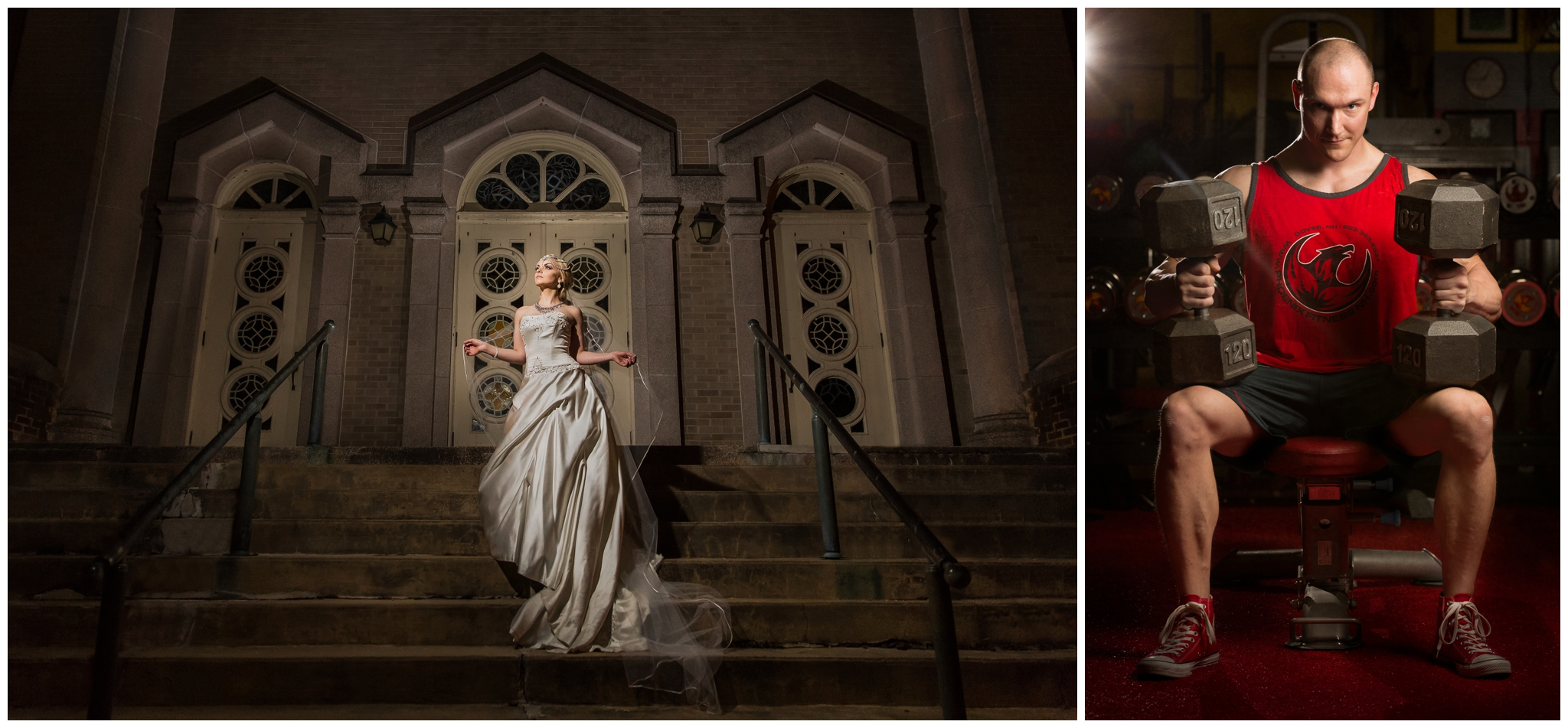 Awesome lighting and backdrops are a hallmark of the artwork created at Chris Keeley Photography. Let's combine the fashion of wedding photography and the dramatic lighting of fitness photography to create epic senior pictures.