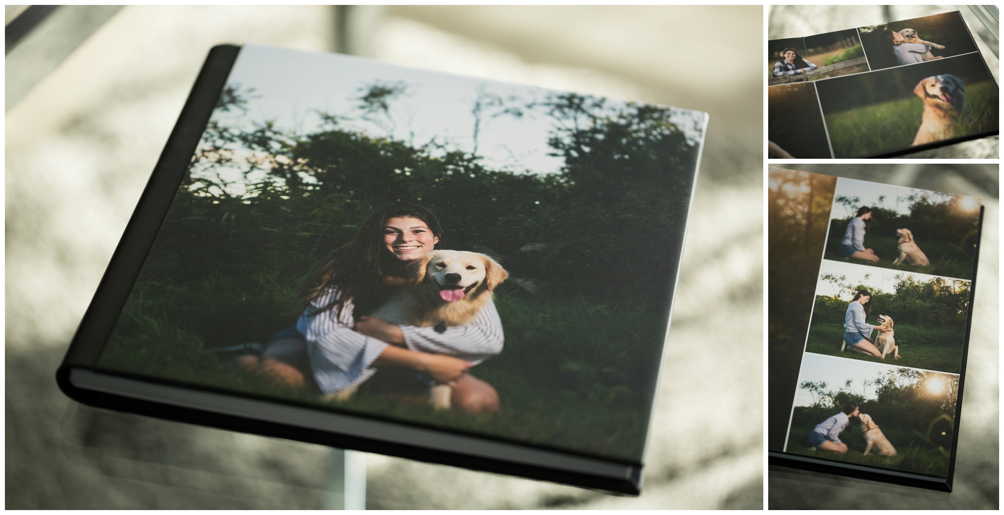 Albums include the images of YOUR choice. Extra thick pages with lustre printed images, and a protective case (not shown). Album prices vary depending on size and # of images you choose.