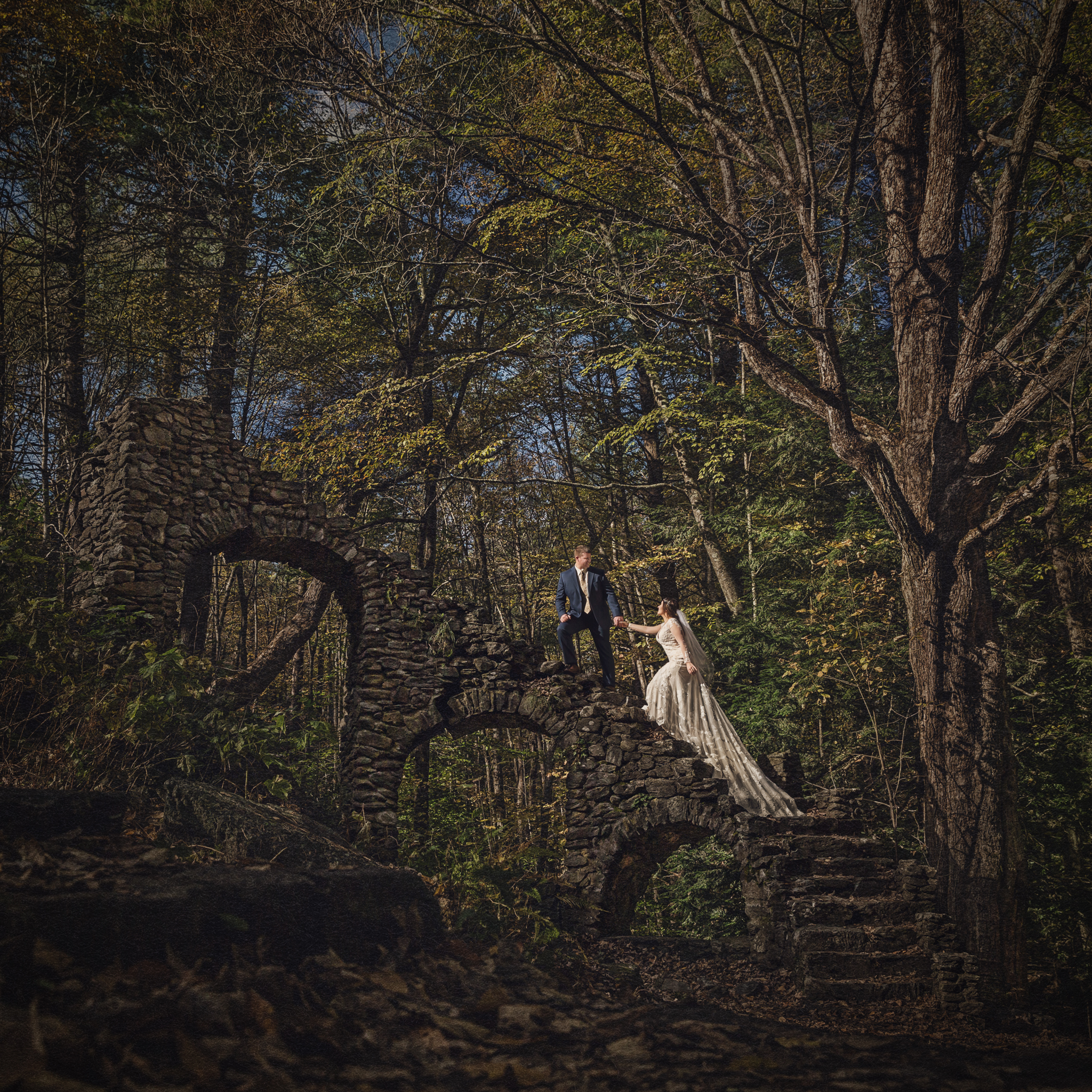 dramatic-wedding-portrait-castle-ruins-new-hampshire