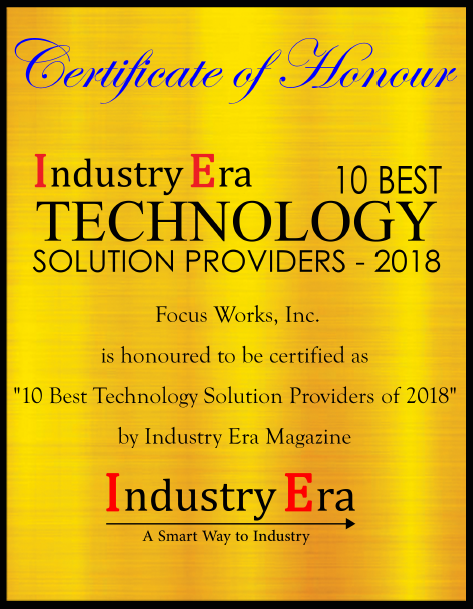 Industry Era 10 Best Technology Solution Providers - 2018