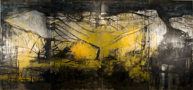 Palomar                                                                   oil  on canvas 250  X560cm