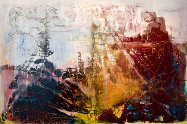 Scordatura                                                                  oil  on canvas 140  X200cm