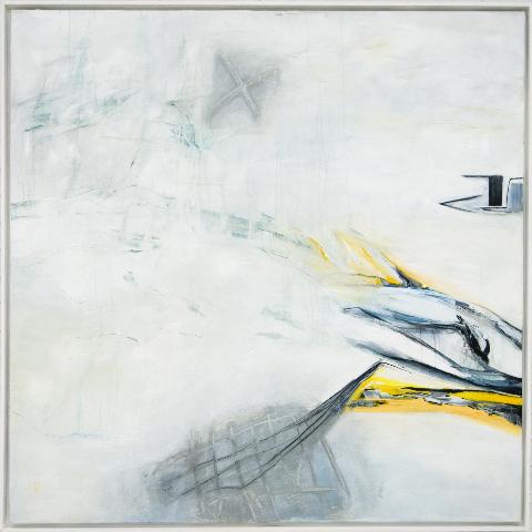 A mezza voce                                    a  cry  lic   on canvas   140X140cm