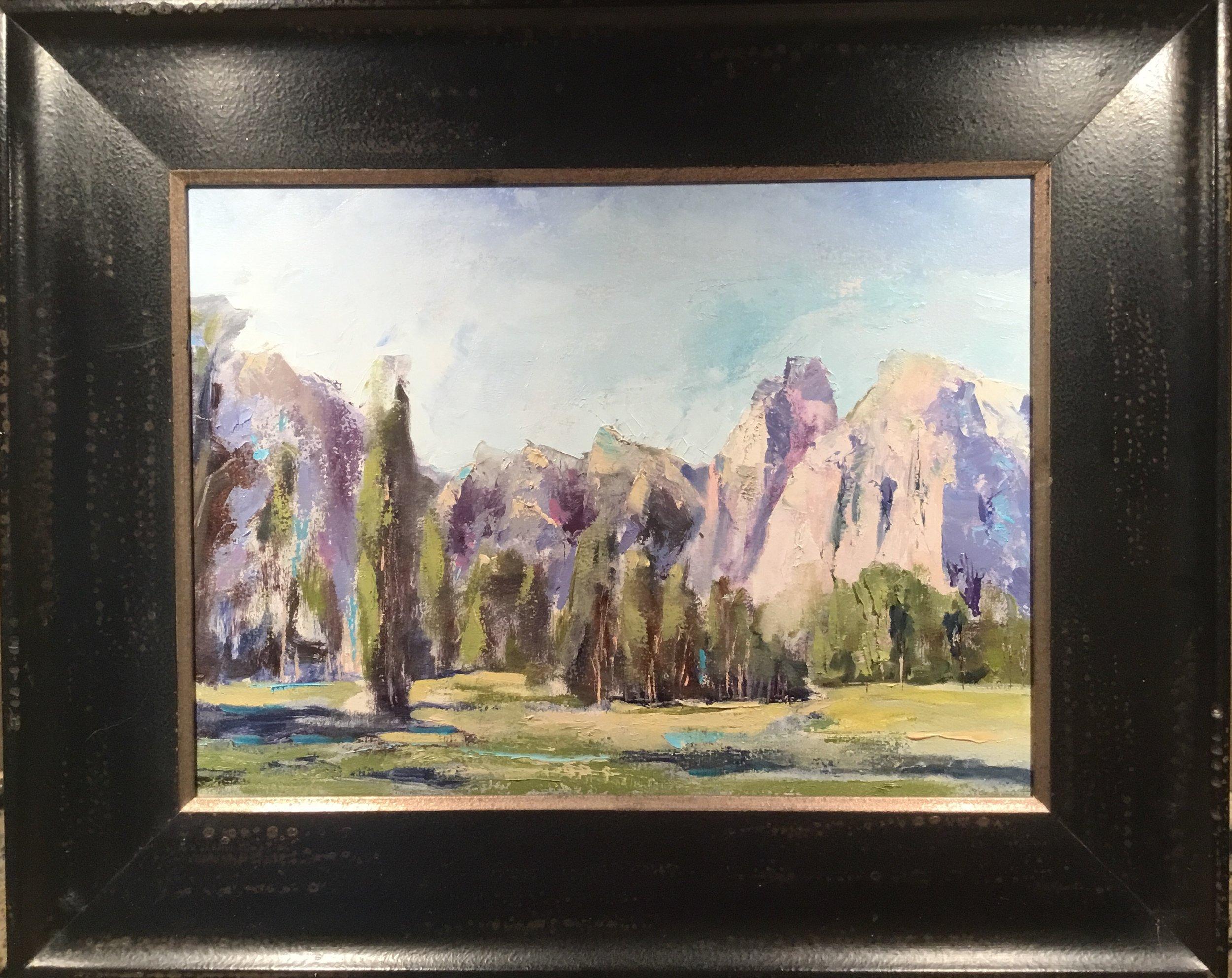 """Finding me in Yosemite"" 8 x 10"" custom Italian wood frame.  $250."