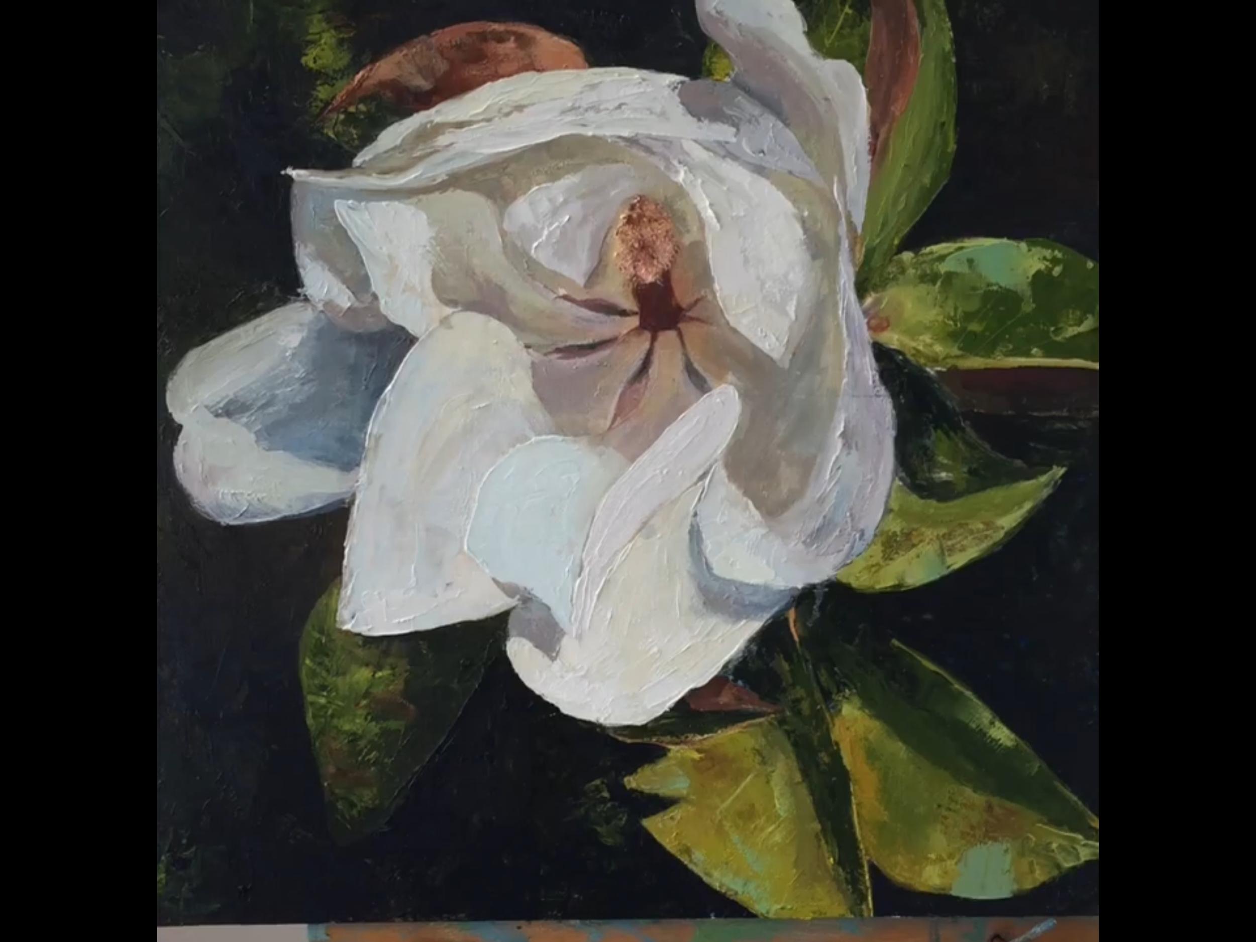 "15"" x 15""x 1.5"" on Birch Wood Canvas  Original Oil Painting  $225"