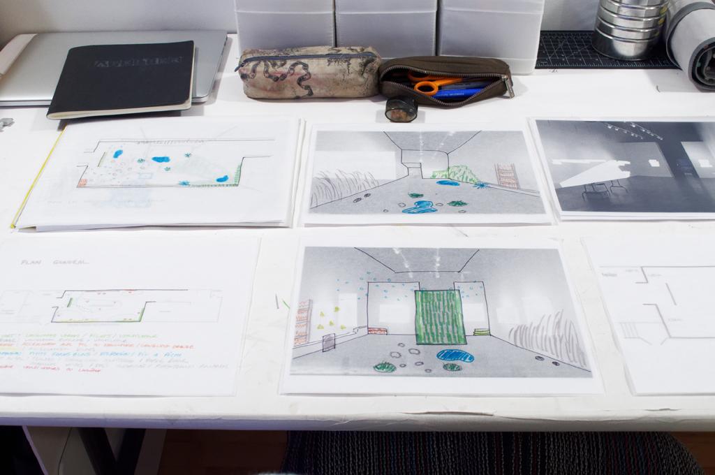 Planification d'une installation sur un plancher en pente sans suspension (un défi!)