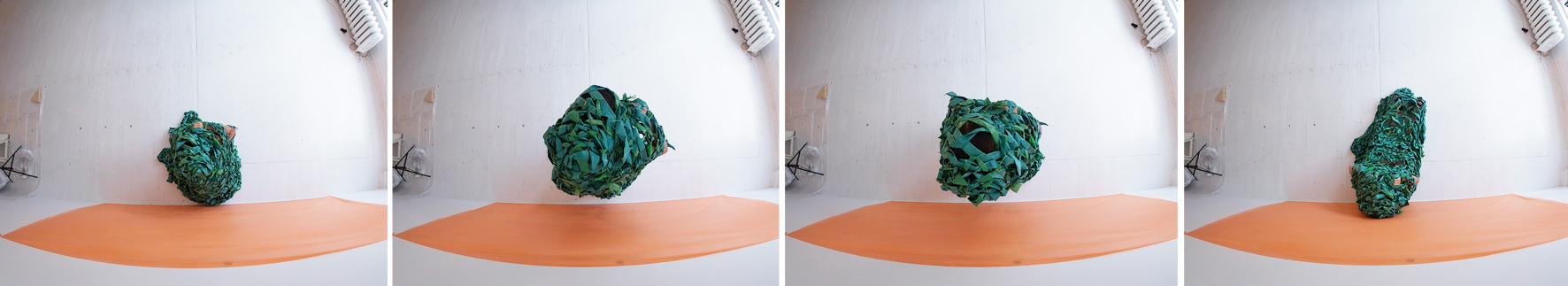 Images extraites d'un vidéo durant la troisième intervention poétique avec la caméra Gopro.