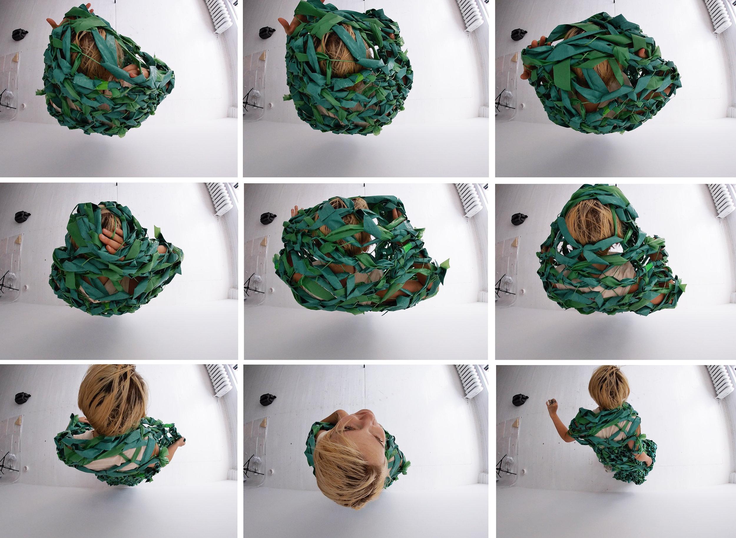 Images extraites d'une captation vidéo de l'intervention poétique avec Clara Painchaud avec la caméra Gopro.