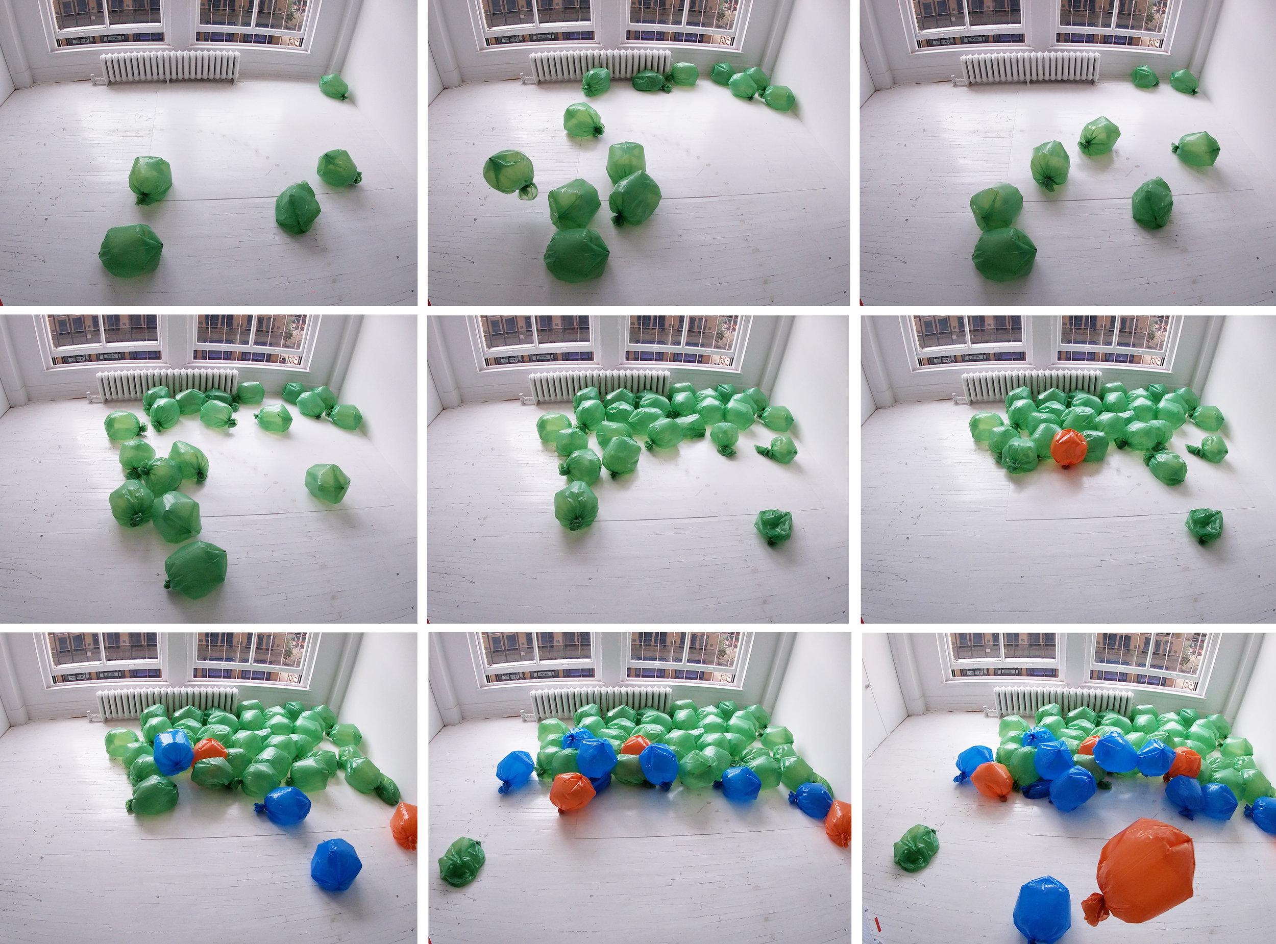 Images extraites d'une captation vidéo avec la Gopro.