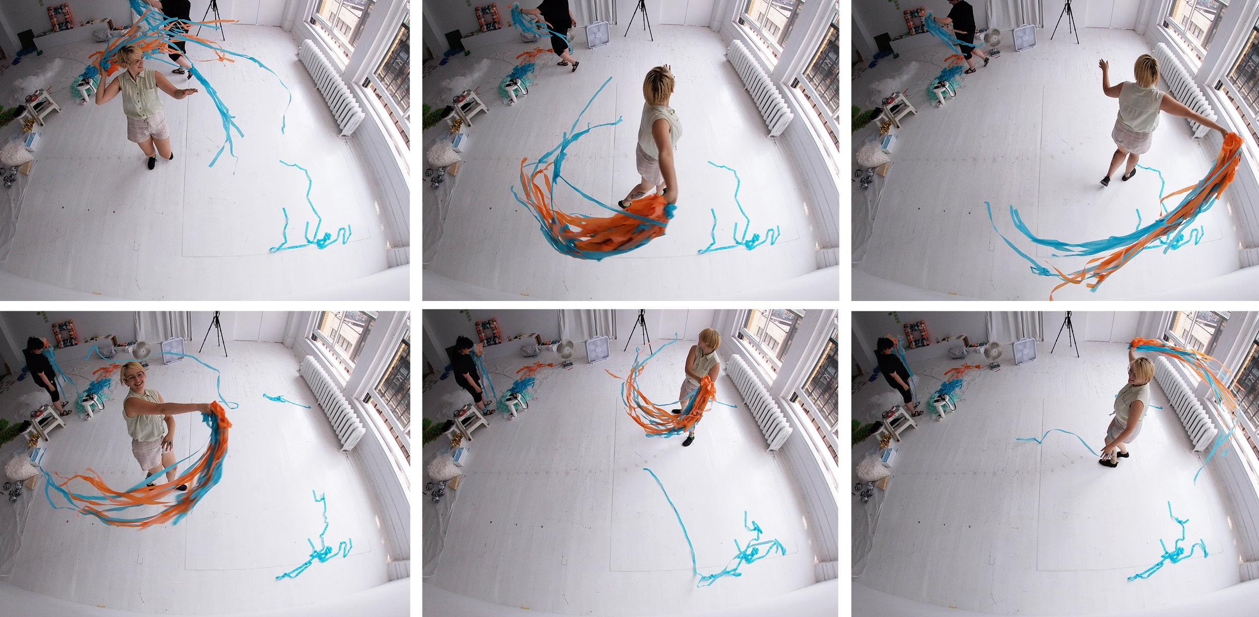 Images extraites d'une captation avec avec la caméra Gopro.
