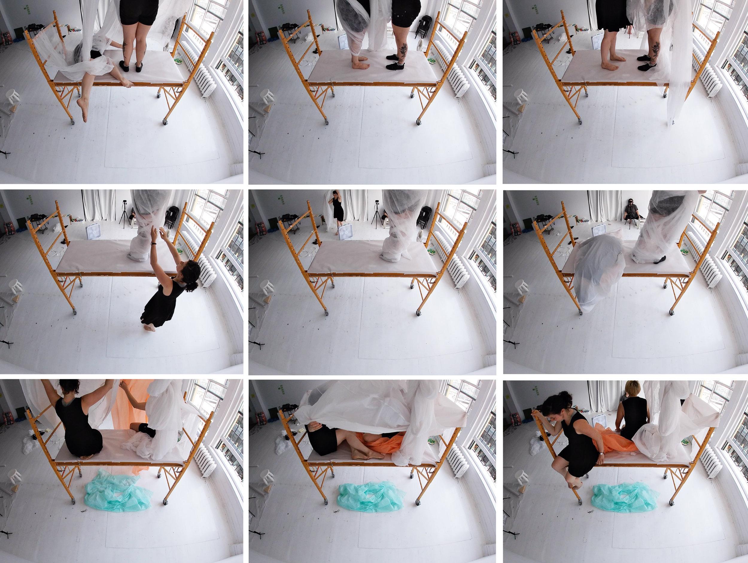 Images extraites d'une captation vidéo avec une caméra Gopro.