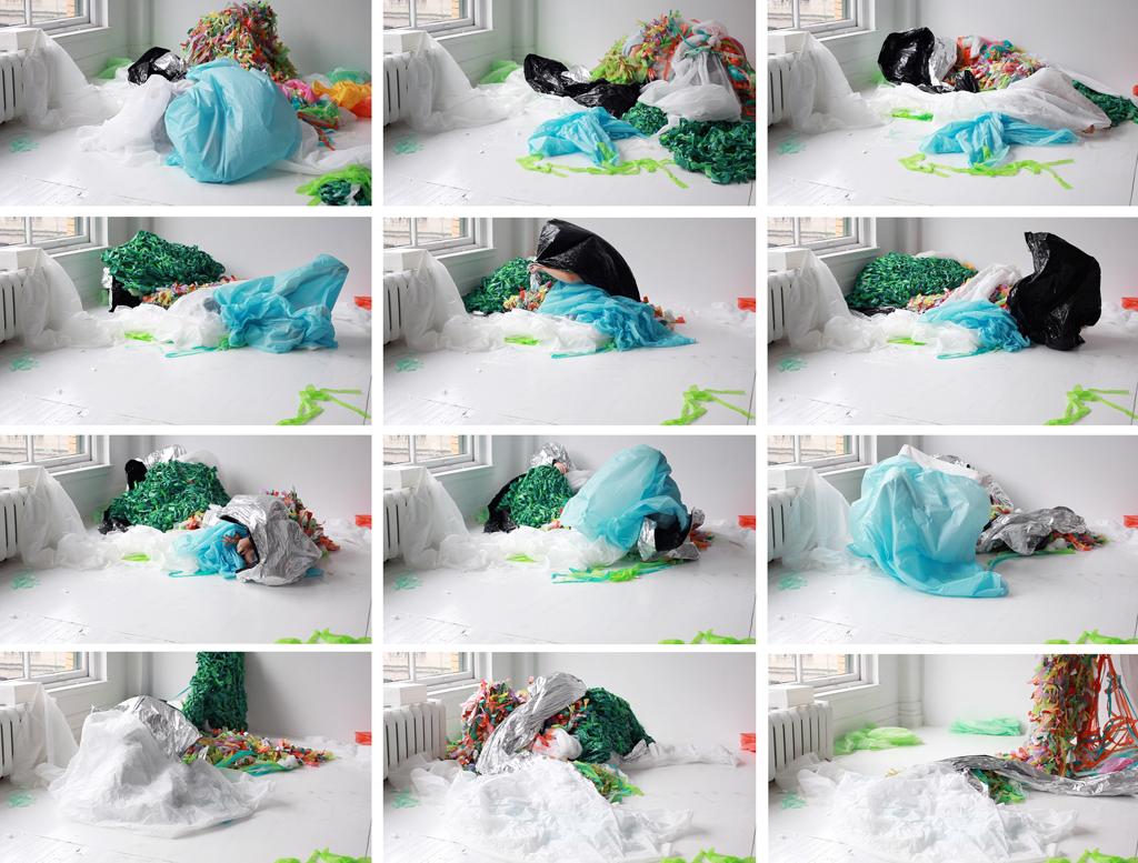 Images issues d'une séquence vidéo avec la caméra Canon. Performance Clara Painchaud et Annie France Leclerc. Cadrage Annie France Leclerc.
