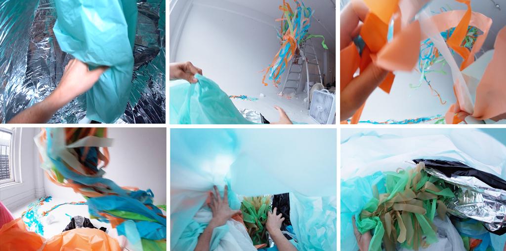 Immersion . Images issues d'une séquence vidéo avec la caméra Go Pro.