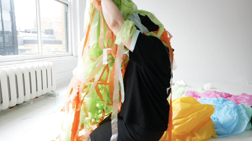 Processus de captation sur la tête avec Andrée-Anne Dupuis Bourret.