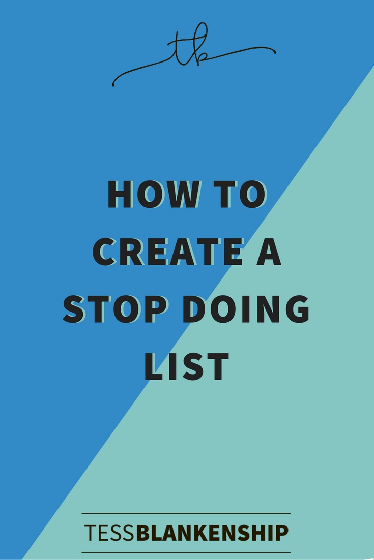You've heard of to-do lists? This is about the anti-to-do list, the stop-doing list. Get your productivity back on track.