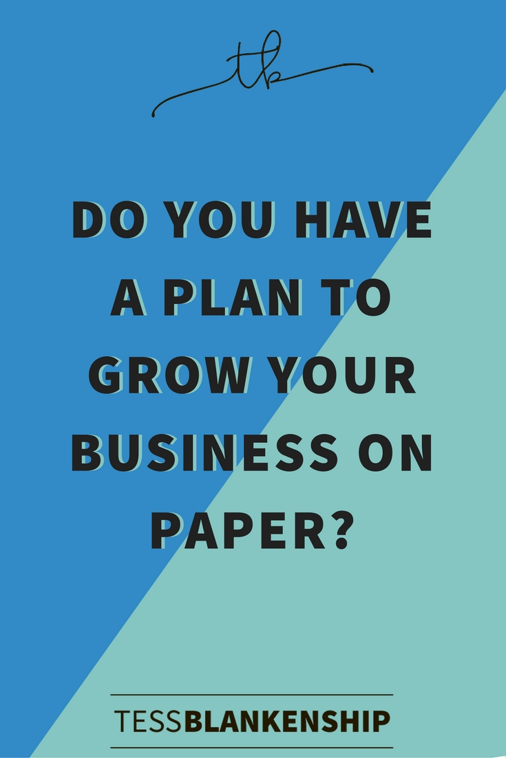 Growth-hacking for your online business: here's why you need to write down your plan of action.