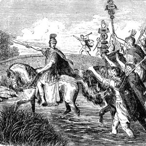 Julius caesar crossing the rubicon