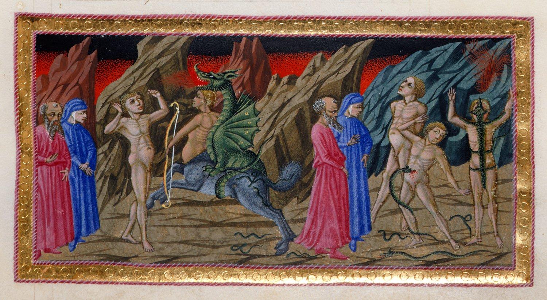 scene from Dante's Inferno