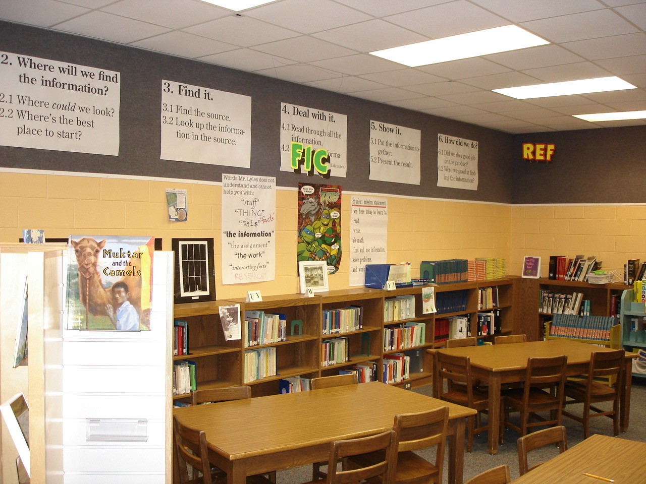 My media center at Newnan Crossing Elementary, back in the day…