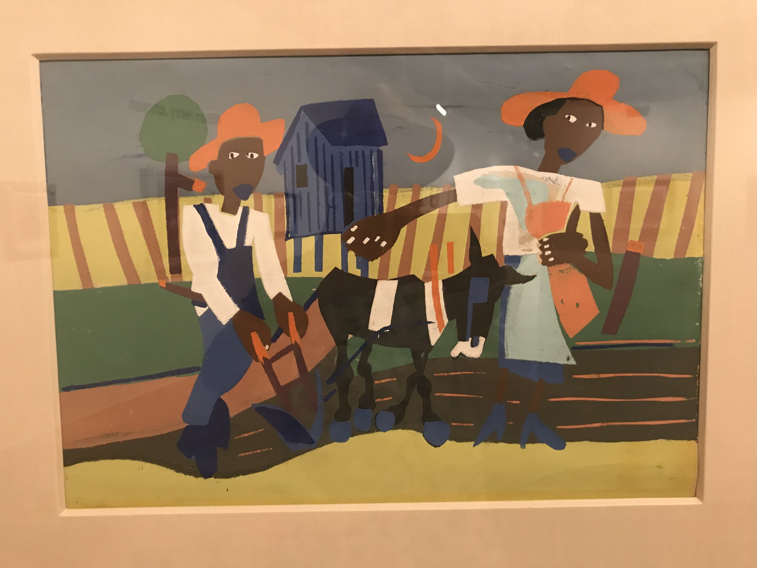 Johnson: Sowing (1940), silkscreen on paper