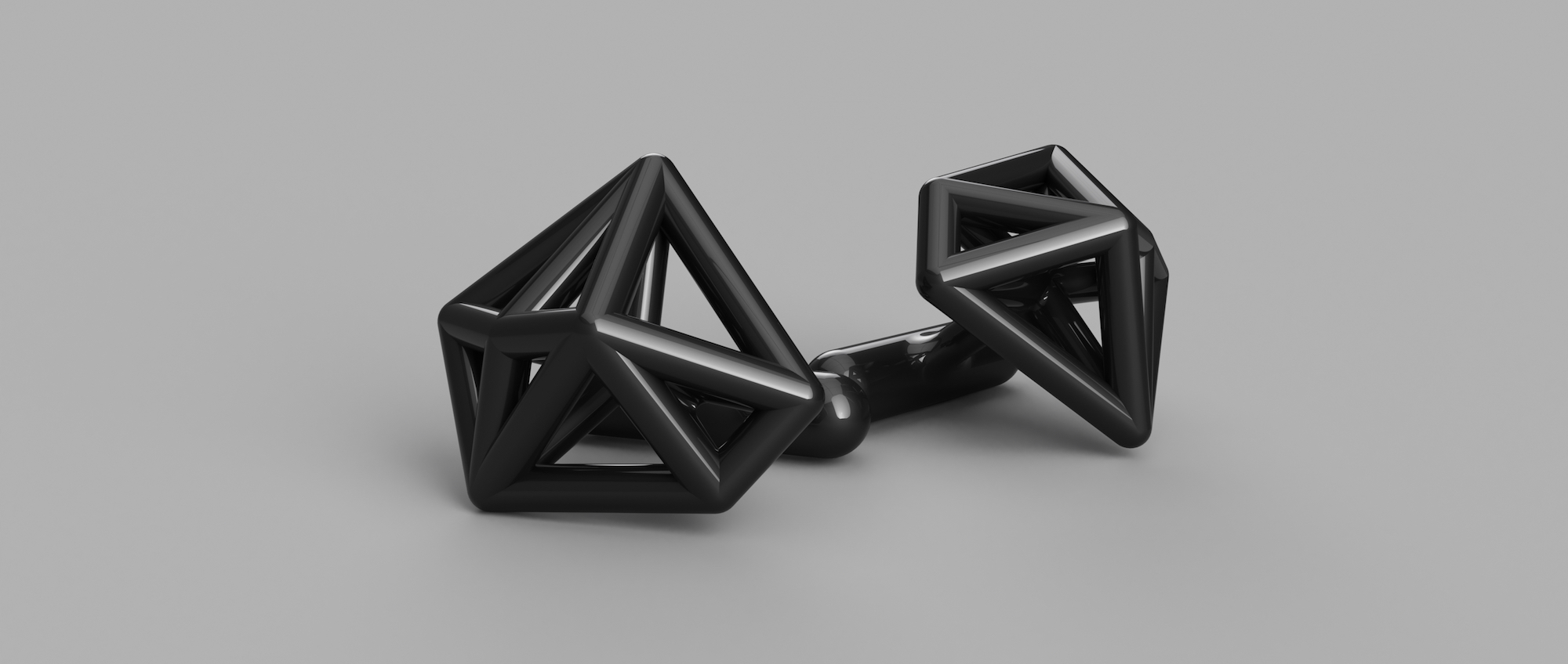 3D RESIN PRINTED FACETED CUFFLINKS