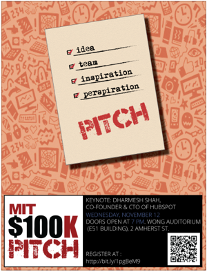 2014 MIT $100K competition    Pitch Finalist    Launch Semi-Finalist