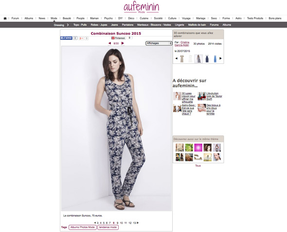 Au Féminin Website