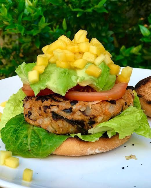Mango Guacamole Crunch Burger