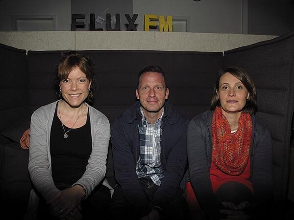 Sylvia Volz, Norbert Bisky & Valeska Hageney @FluxFM.