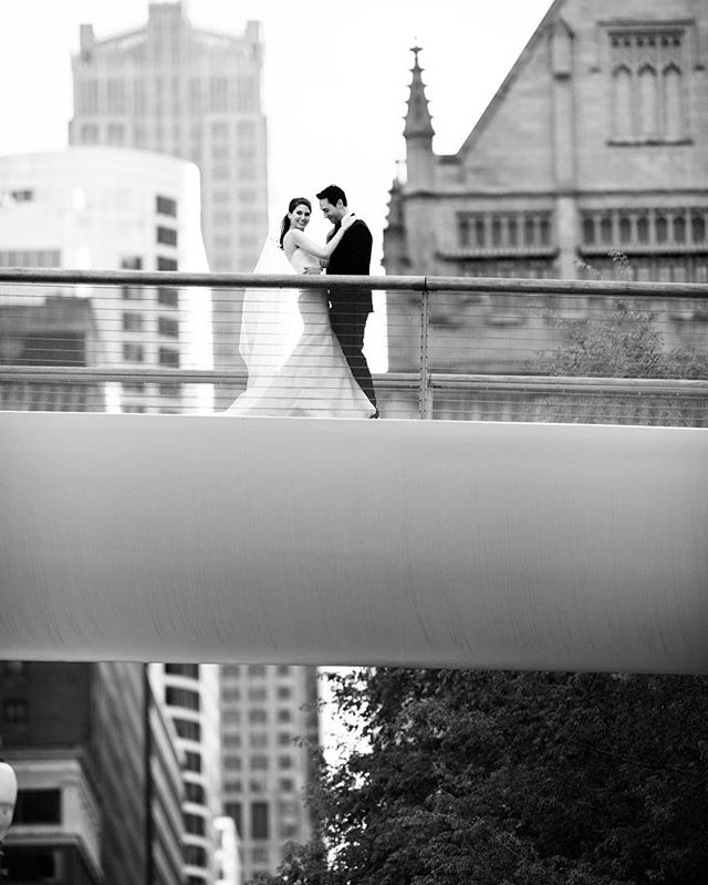 @jaylicht and Renaud's wedding this past Saturday was just magical. I'm loving this series of photos we got right around sunset on the Nichols Bridge.