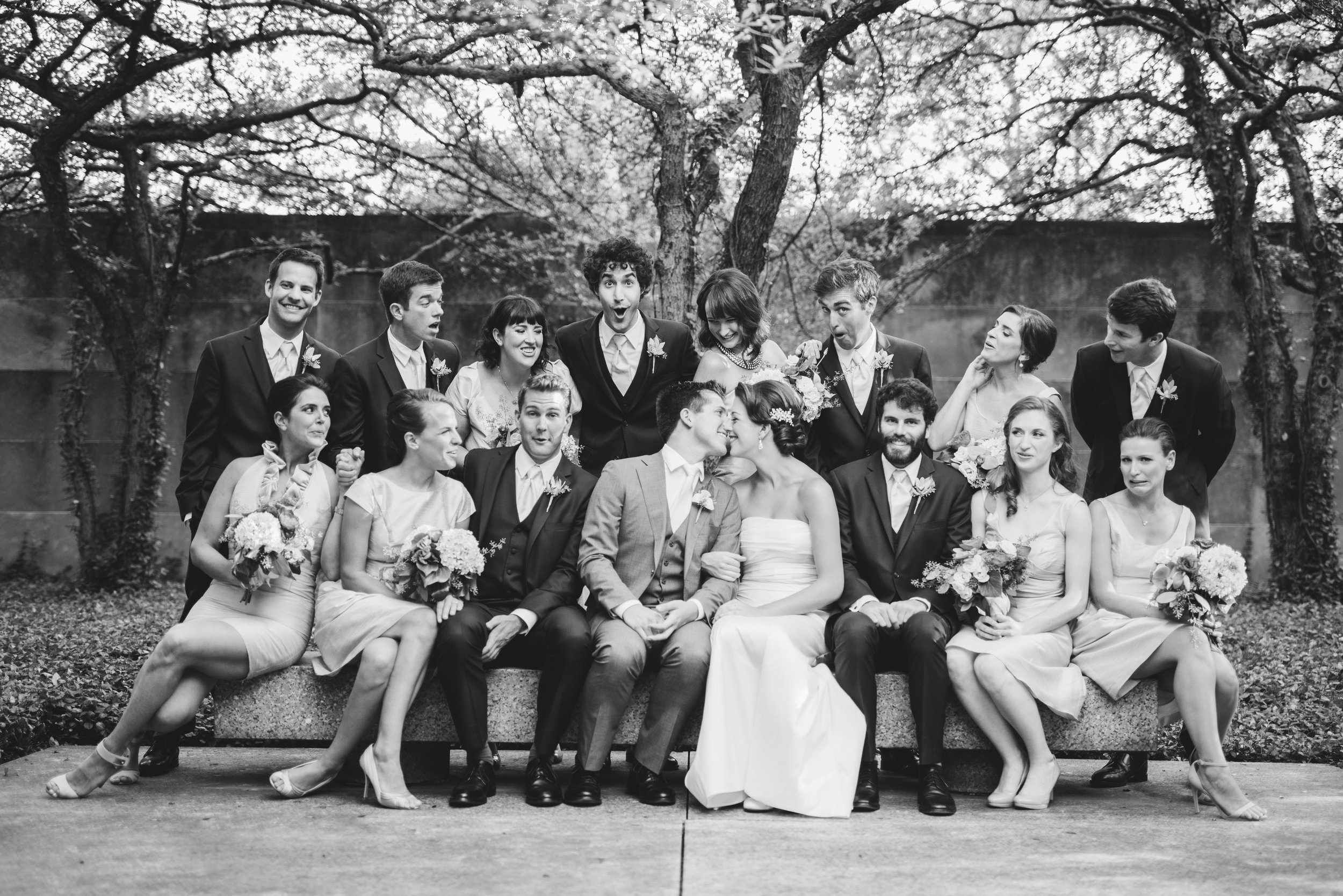 Bridal Party at Art institute of Chicago