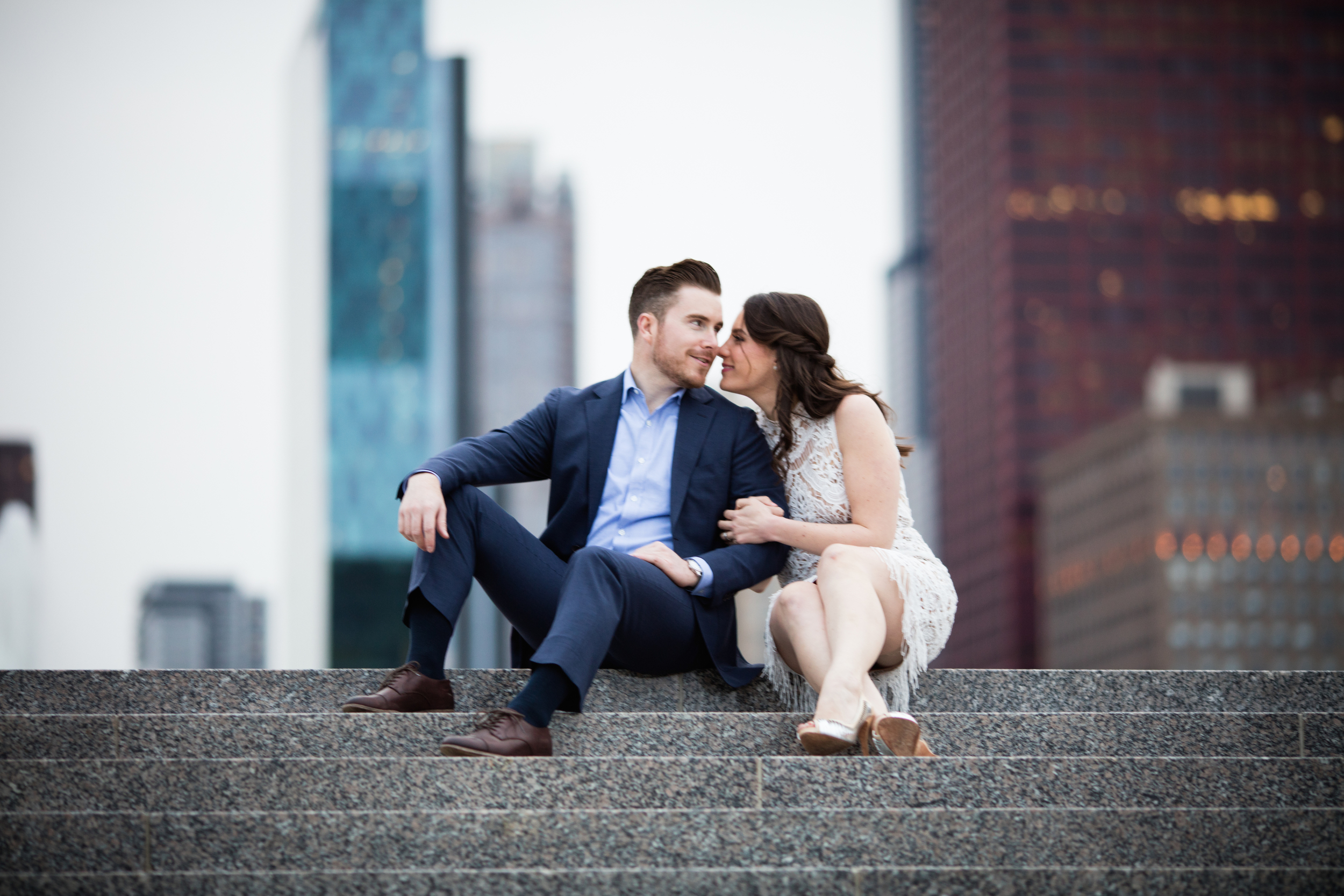 Engagement photos in Chicago