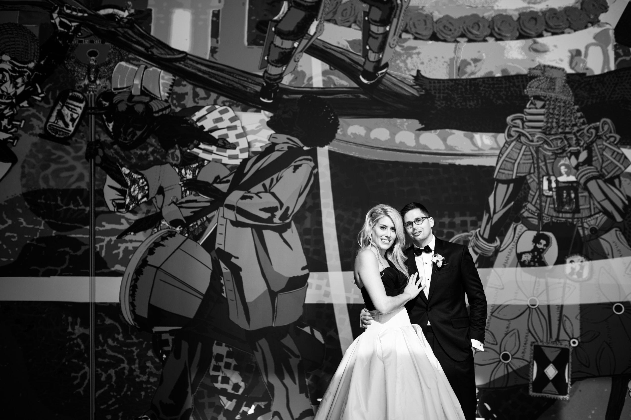 Chicago graffiti wedding photography