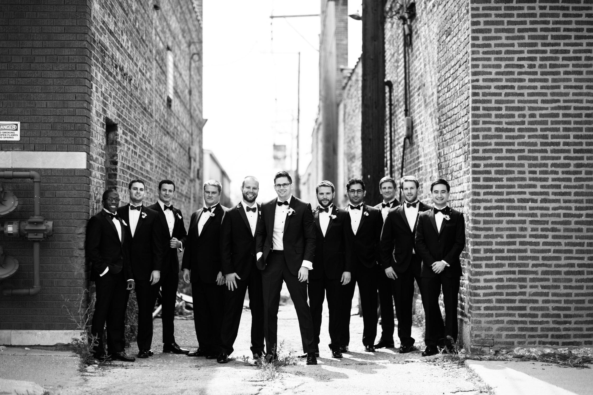 Chicago wedding photography groomsmen