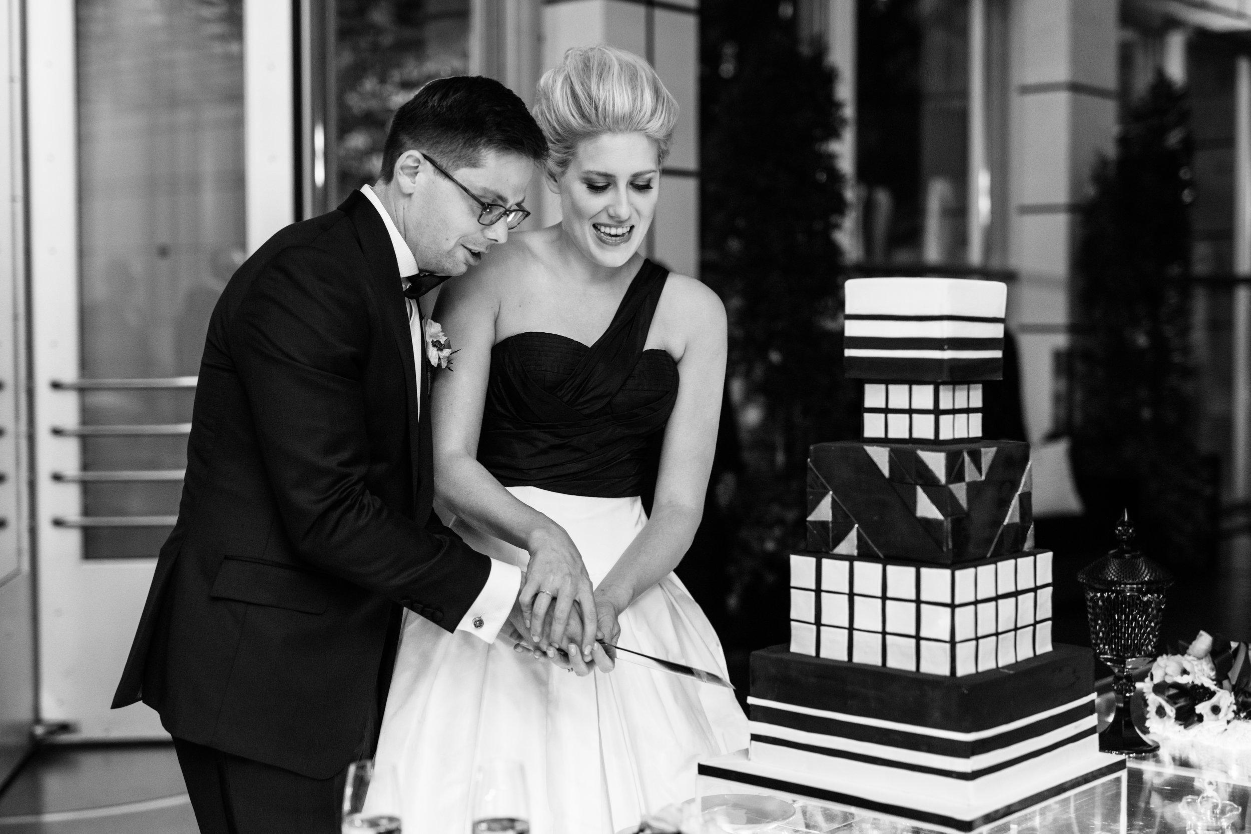 Cake cutting at Weddings