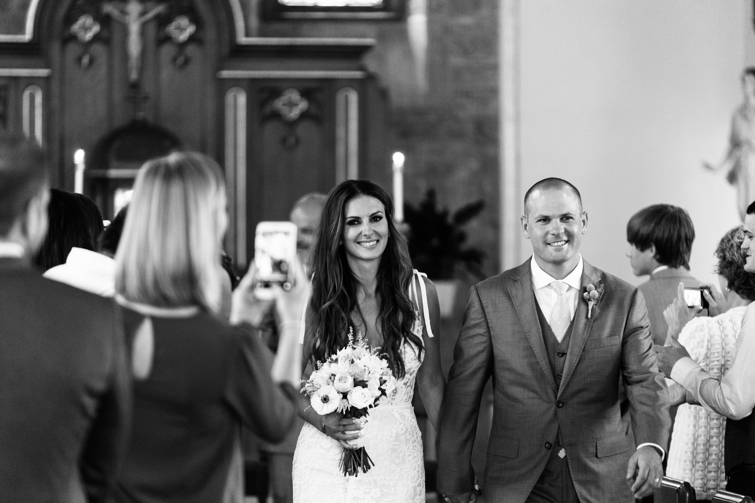 Wedding Recessional photography