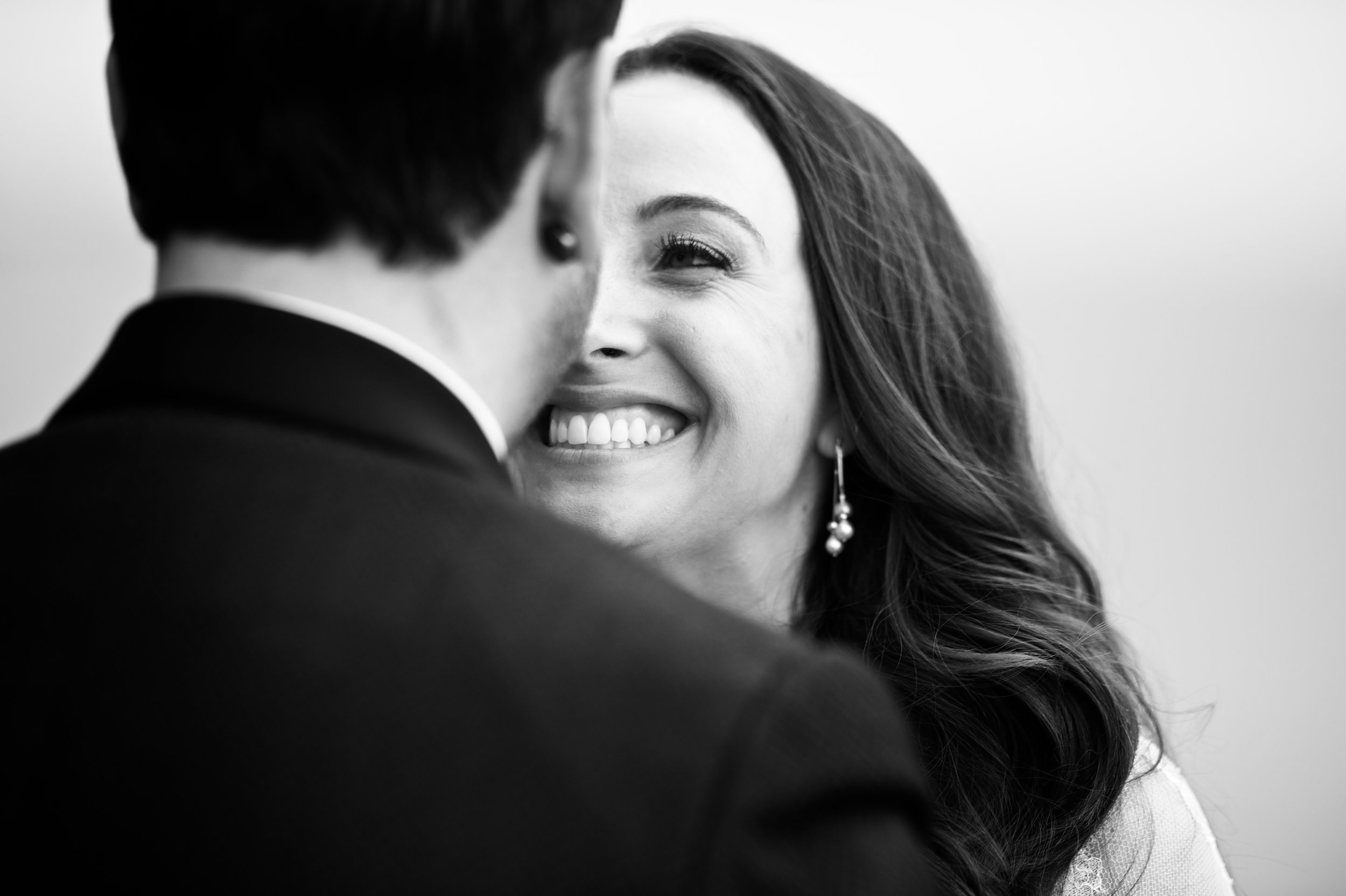 chicago black and white wedding photography