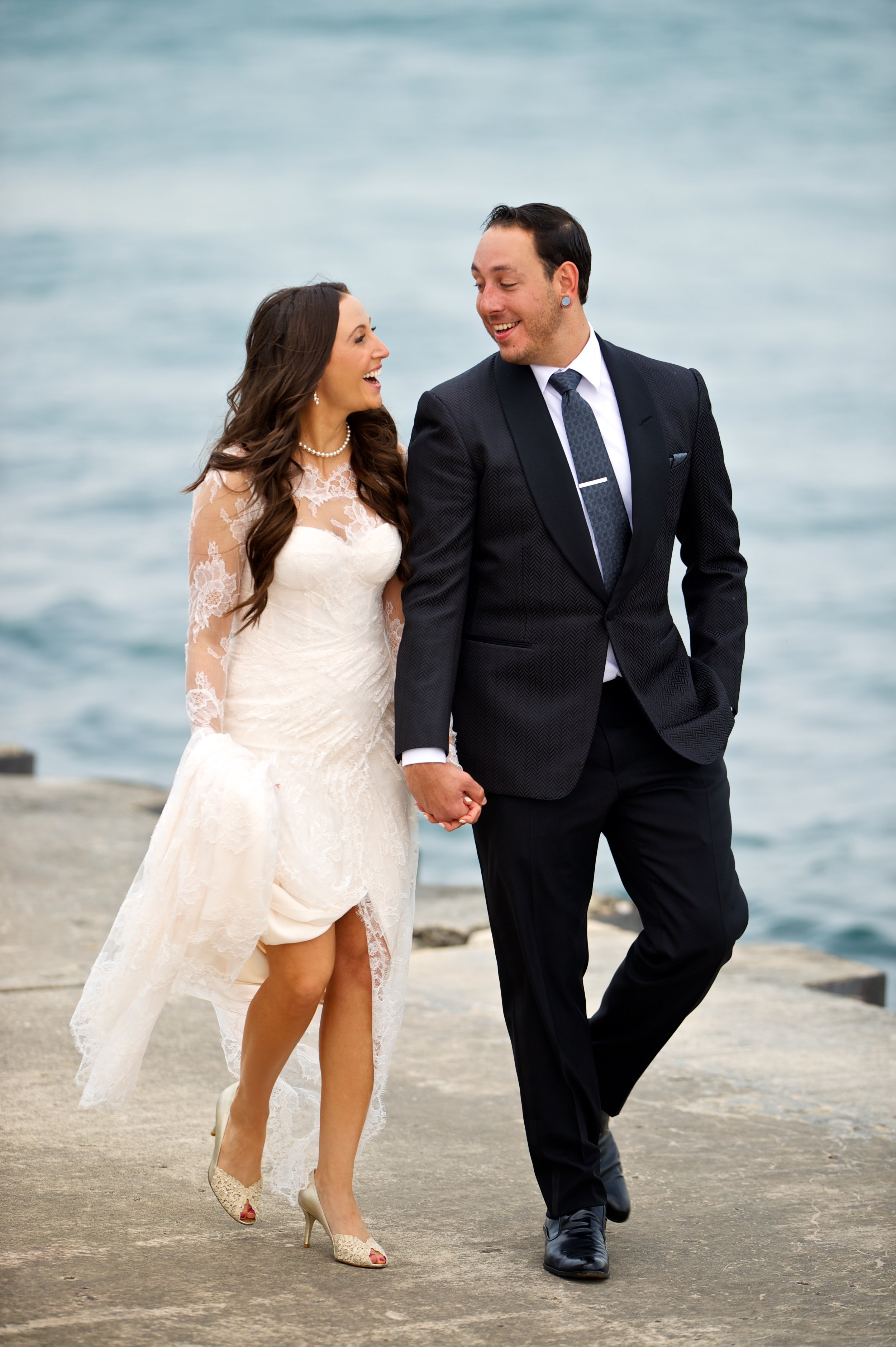 Chicago lakefront wedding photography