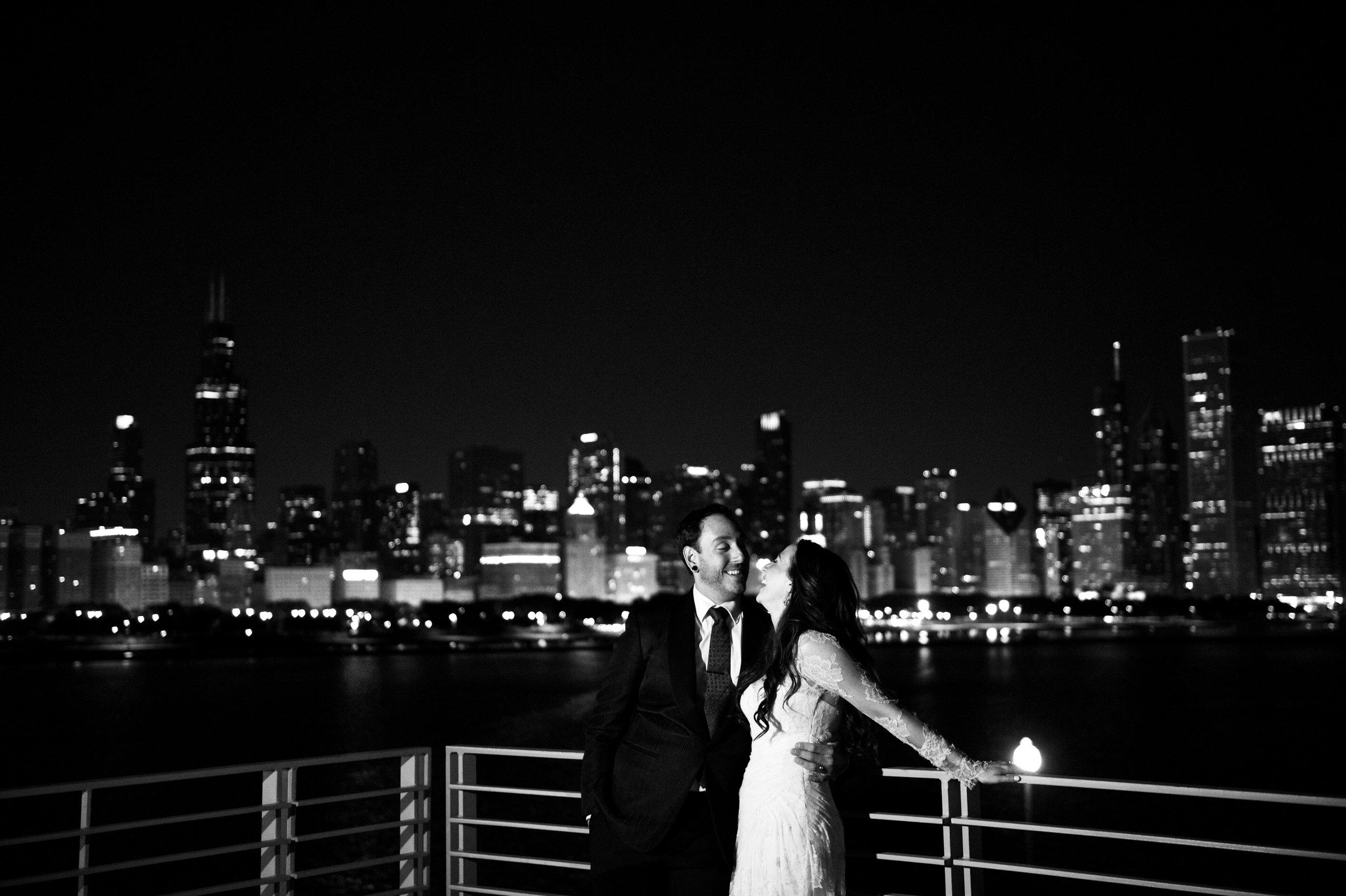 Chicago Skyline Wedding Photography