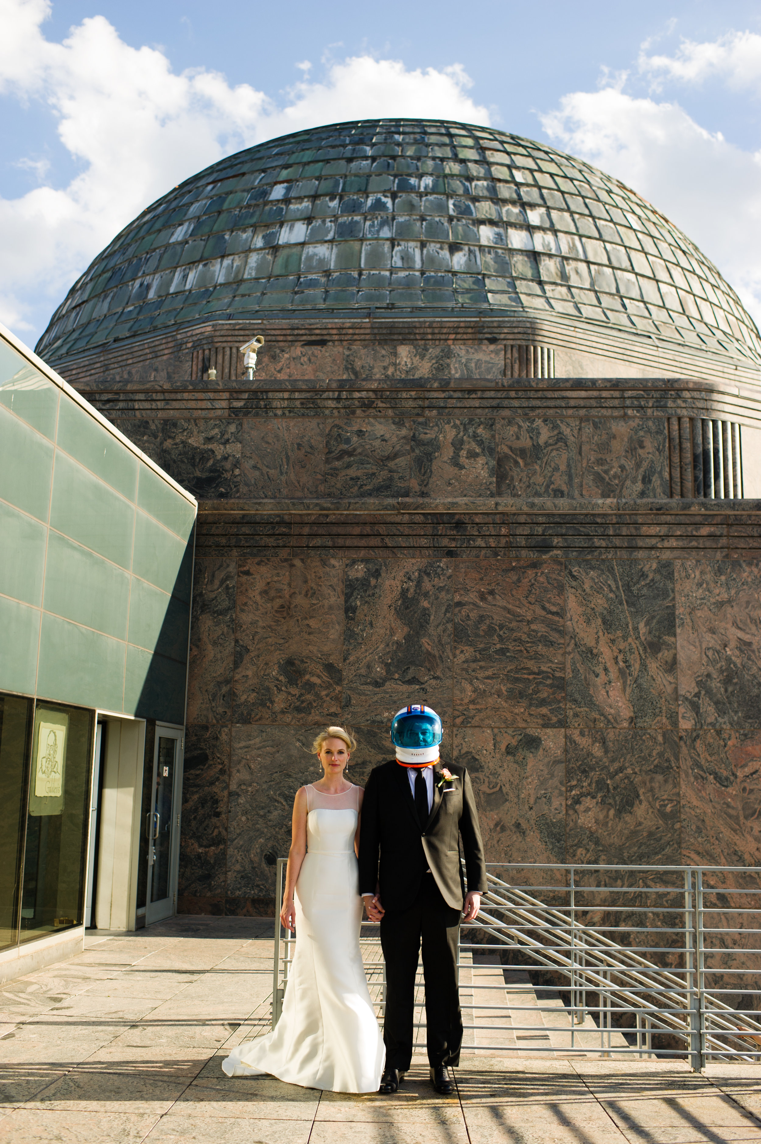 wedding at the adler planetarium in chicago