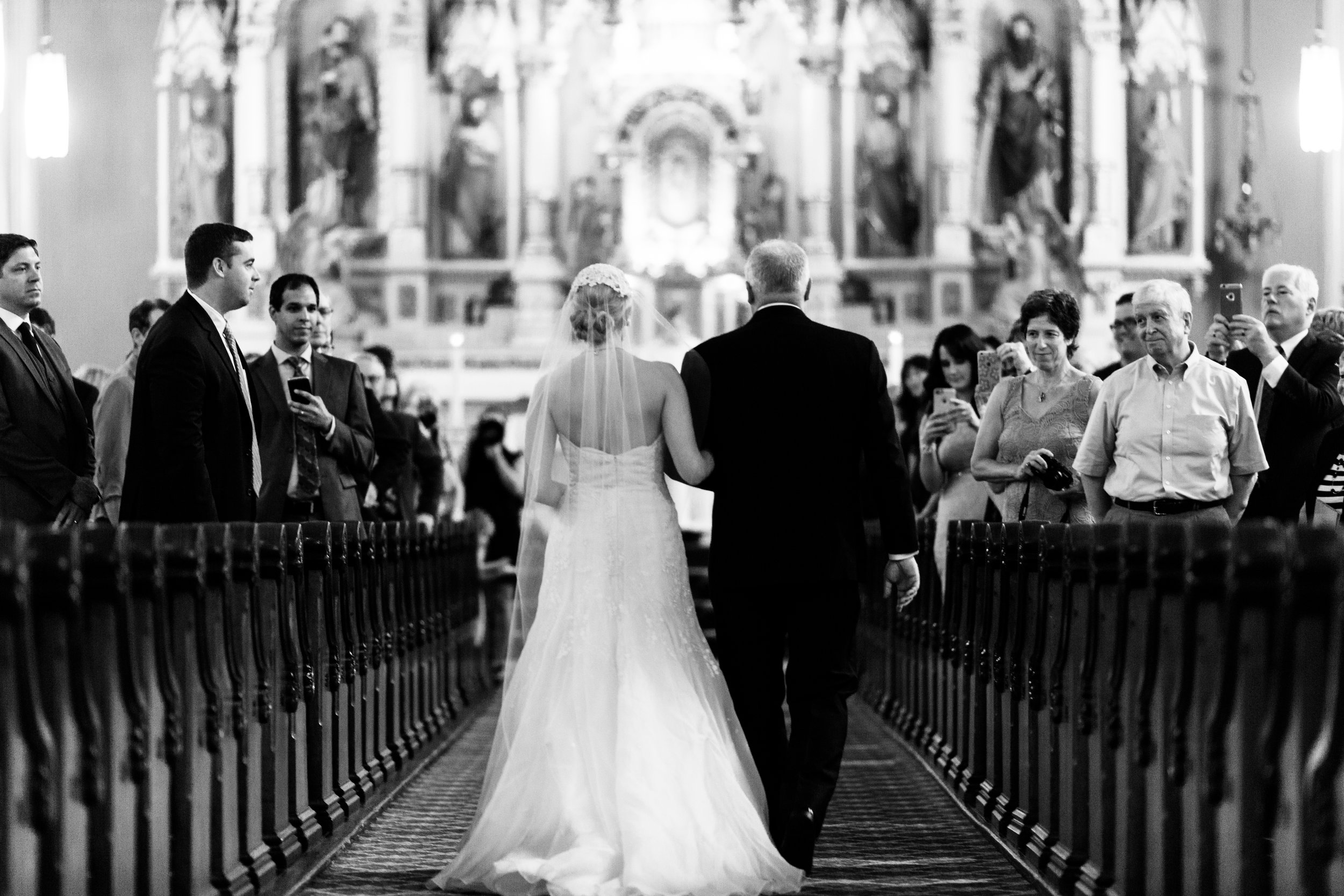 Wedding Ceremony at St. Michael's in Chicago