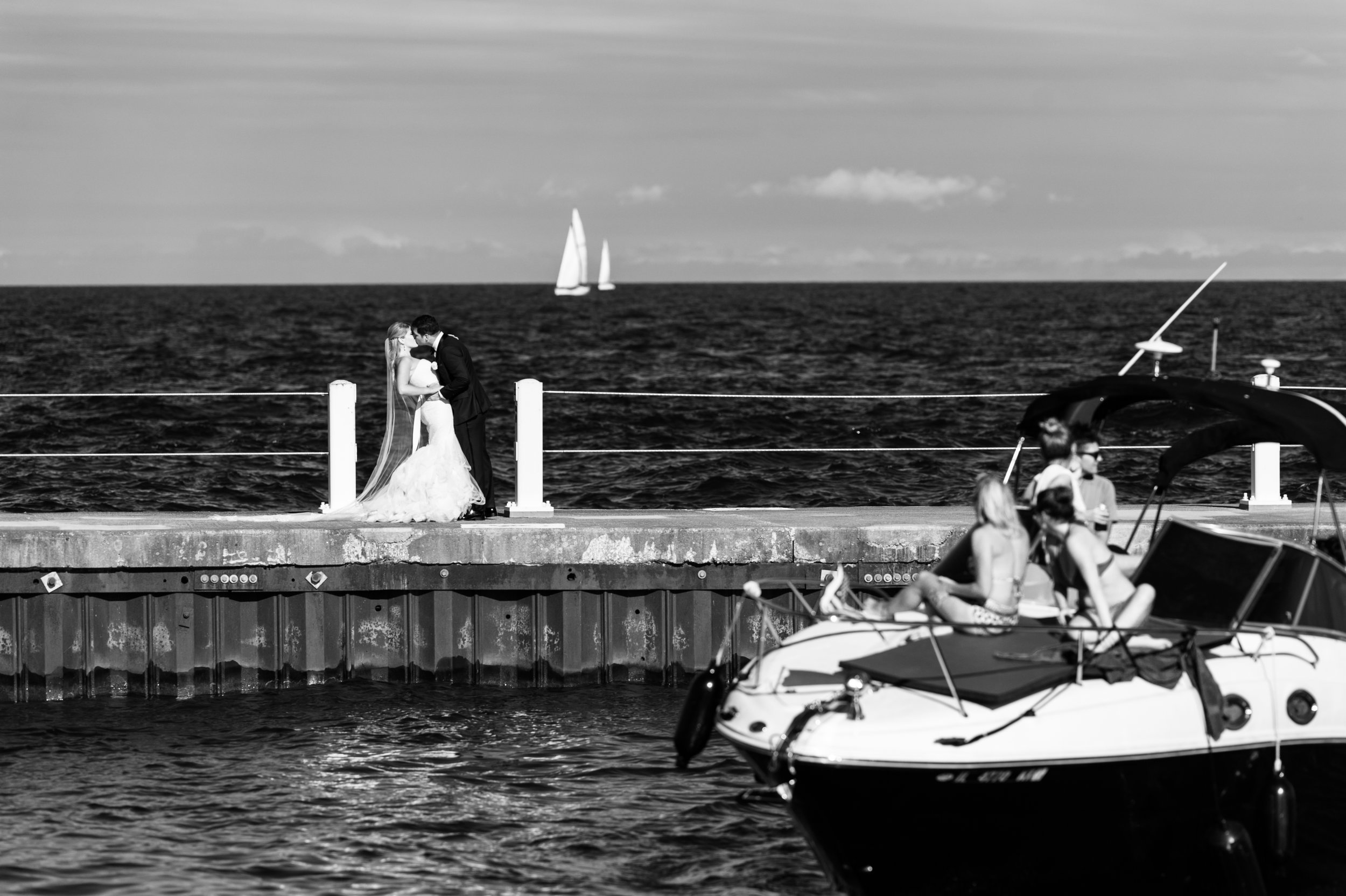 Chicago Harbor Wedding portraits
